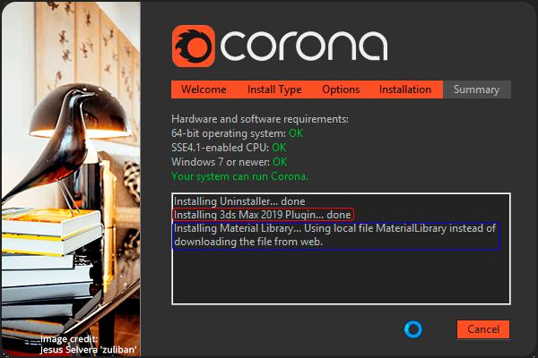 Установка Corona Renderer 2 в 3DS MAX 2013 – 2019 + Material Library